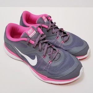 Nike Flex TR 5 Gray/Pink Size 8 Sneakers
